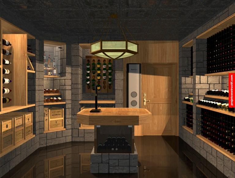 Cave à vins_wine_cellar_3D_rendering_interior_design