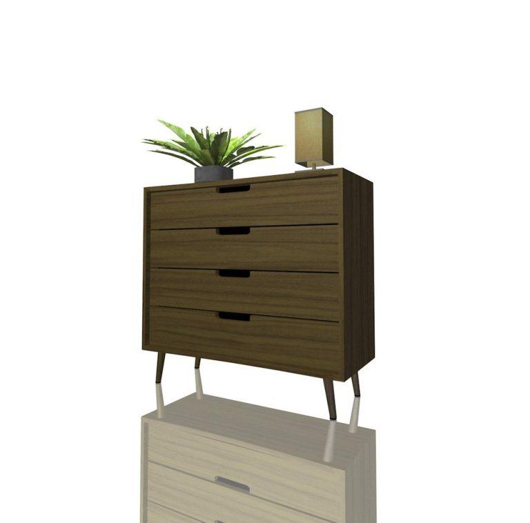 Mobilier_rangement_Teak_wooden_storage_modular