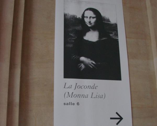 Musee du Louvre aviso da Monalisa