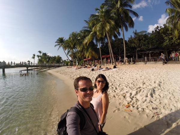 Dia lindo na ilha de Sentosa!