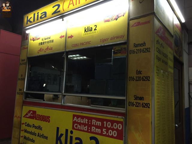 do terminal klia2 ao centro de Kuala Lumpur