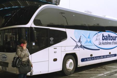 Viagem de ônibus entre Roma e Nápoles
