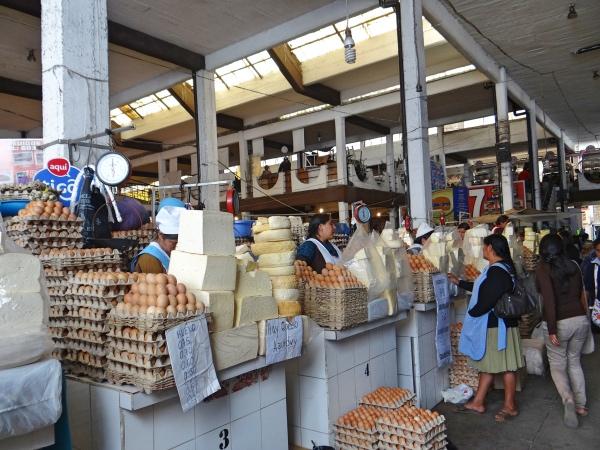 Interior do Mercado Central de Sucre