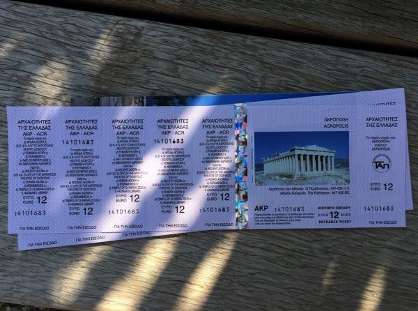 A cartela com ingressos para a Acrópole e mais 5 atrações