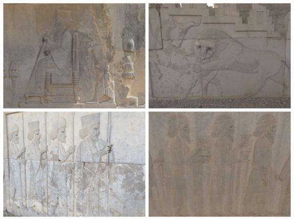 Desenhos na pedra em Persepolis