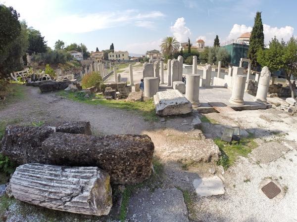 Ruinas da Agora Romana Atenas