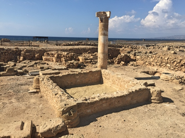 Ruinas do parque arqueologico de Paphos