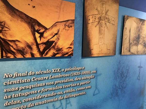 Tatuagens dos presos no museu do carandiru