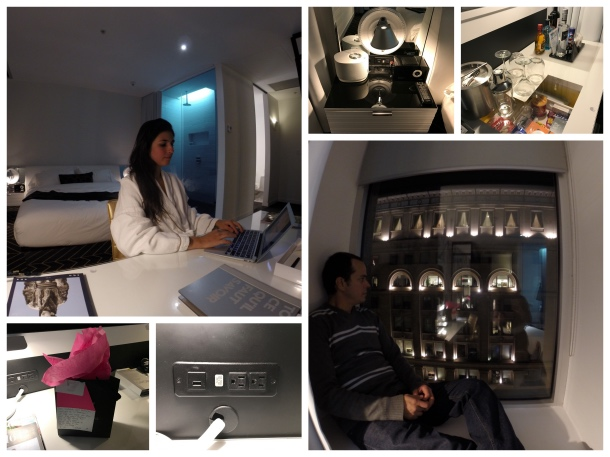 Detalhes do quarto do hotel W Montreal