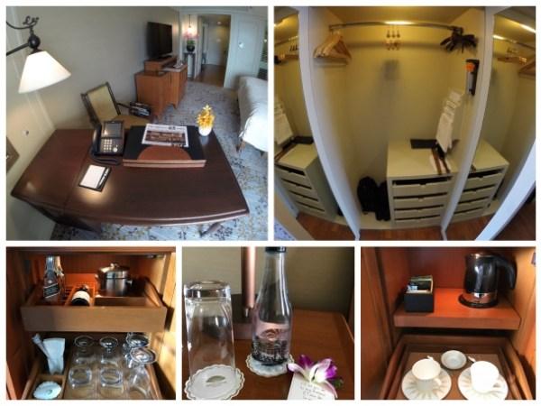 Detalhes do quarto do Mandarin Oriental Bangkok