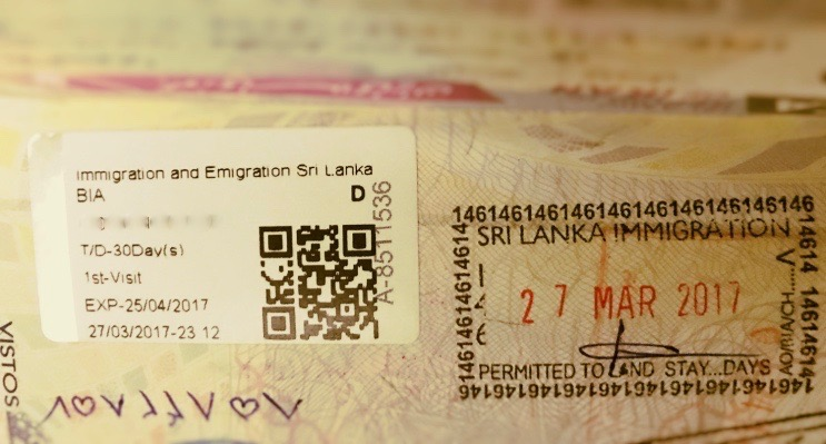 Como tirar o visto para o Sri Lanka - Electronic Travel Authorization (ETA)