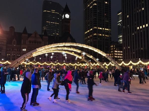 Nathan Phillips Square Skating