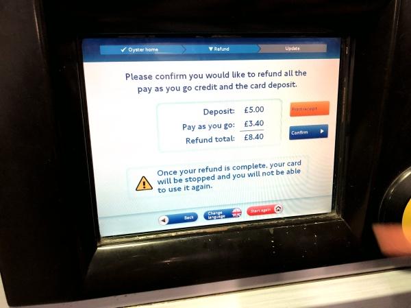 Refund Oyster Card