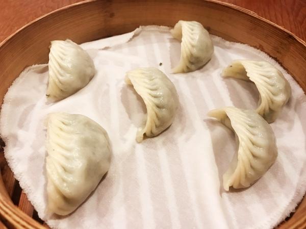 steamed vegetarian mushroom dumpling