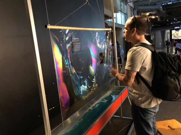 Fazendo experimentos no Exploratorium