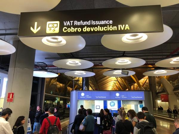 Devolução de IVA no aeroporto de Madri