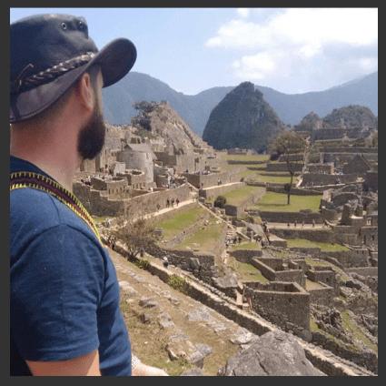 Conrado López em Machu Picchu
