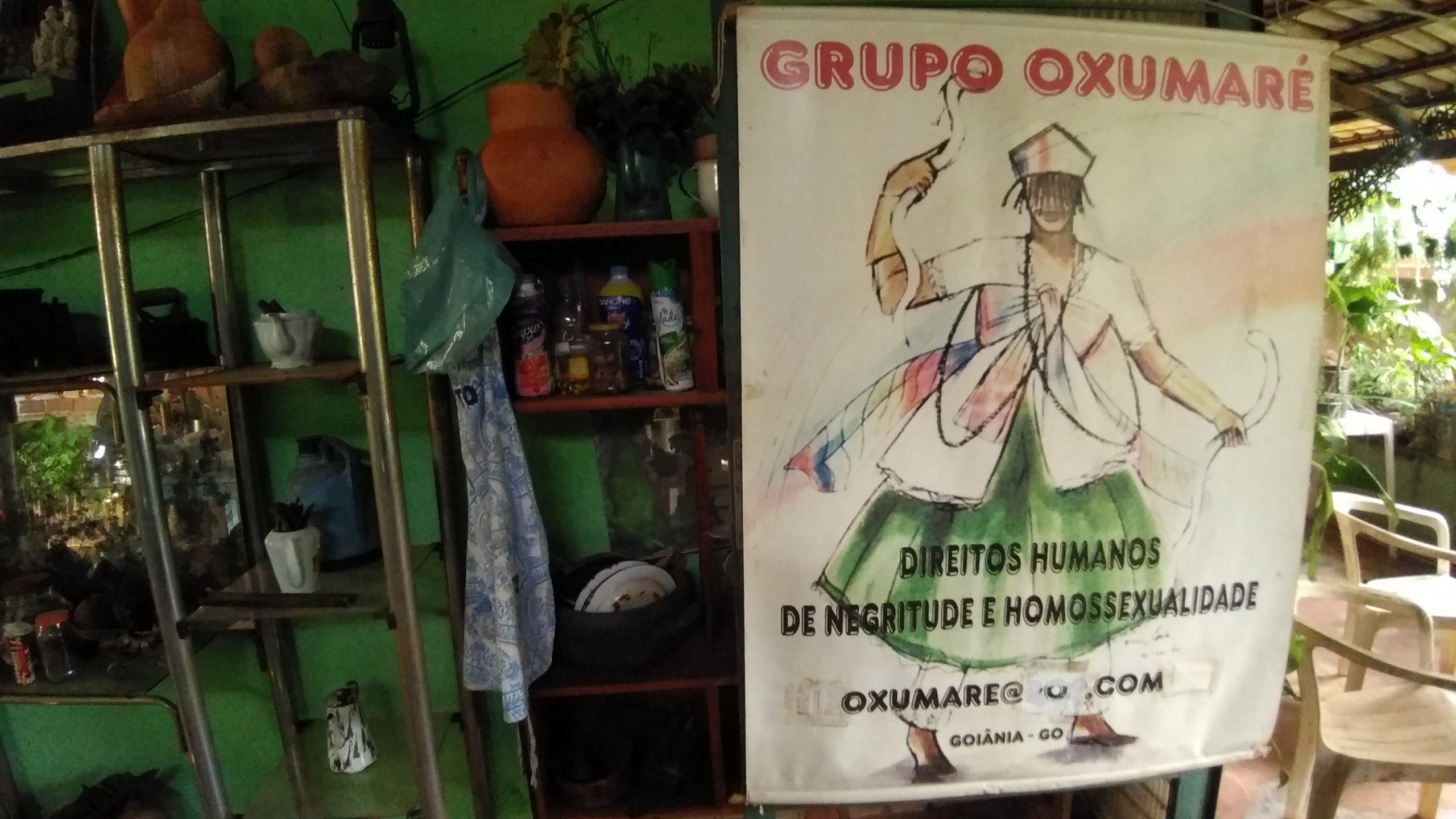 Grupo Oxumaré, organizado por Marco Aurélio e Luzia Basília, no Quilombo Vó Rita: defesa dos direitos humanos e da tolerância. Foto de Ludmila Almeida