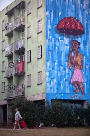 Mural produzido pelo artista Fel.