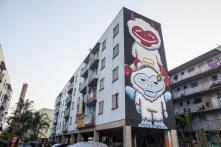 Mural produzido pelo artista Subtu.