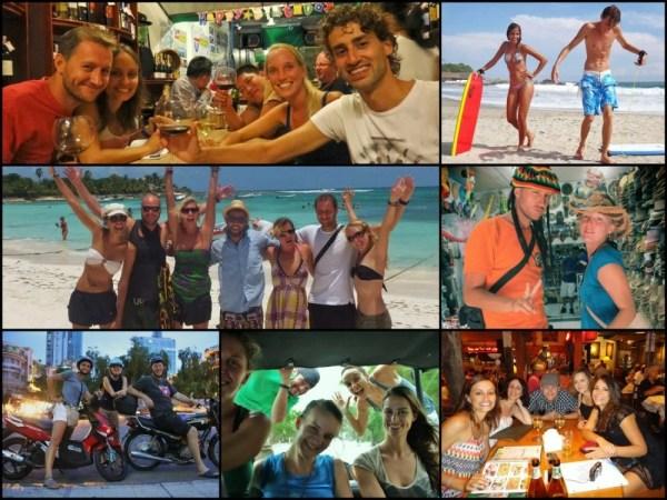 Alguns dos viajantes que se juntaram a nós e fizeram parte da nossa aventura. Se até a gente viajando acompanhado conhecia muitas pessoas, imagina você viajando sozinho.