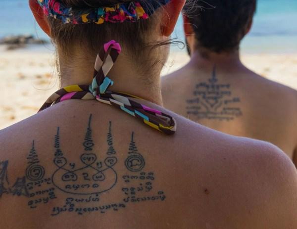 Tatuado pelas mãos de um monge