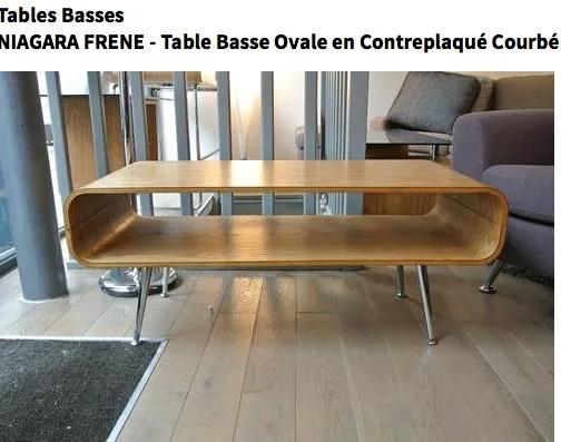 je cherche une table basse design
