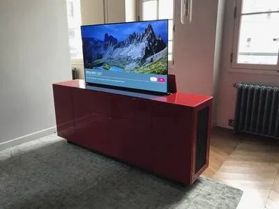 العشرات اليقظة قطاع meuble tv escamotable prix