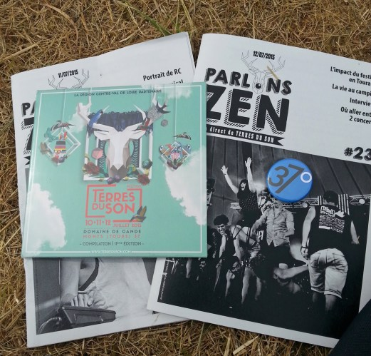 Zine Terres du Son, CD compilation du festival et badge 37°