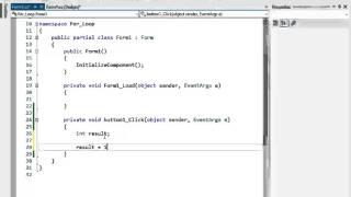 C# প্রোগ্রামিং টিউটো পর্ব-১১ (For Loop)