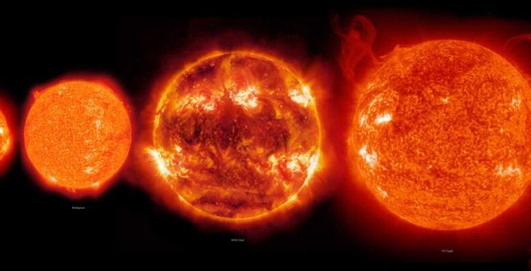 Загружен для10 крупнейших звёзд во вселенной