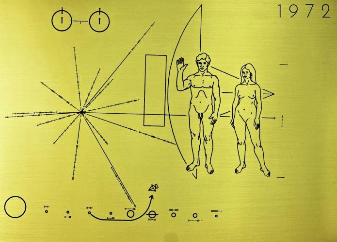 Пионер 10 табличка
