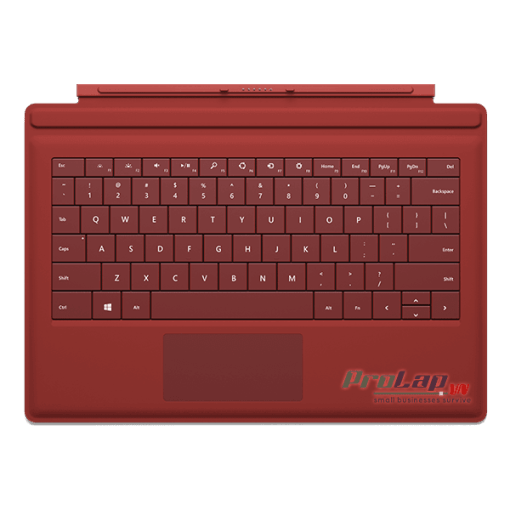 Ban phim Surface Pro 3 Type Cover mau Do Red