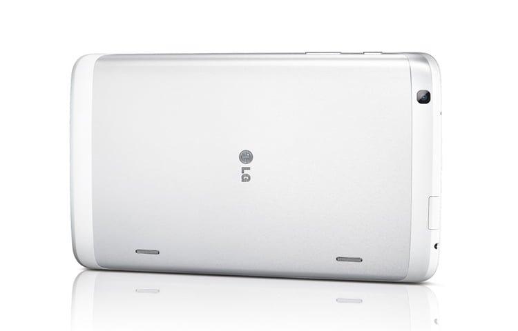 Mặt lưng máy tính bảng LG G Pad 8.3 màu trắng nằm ngang