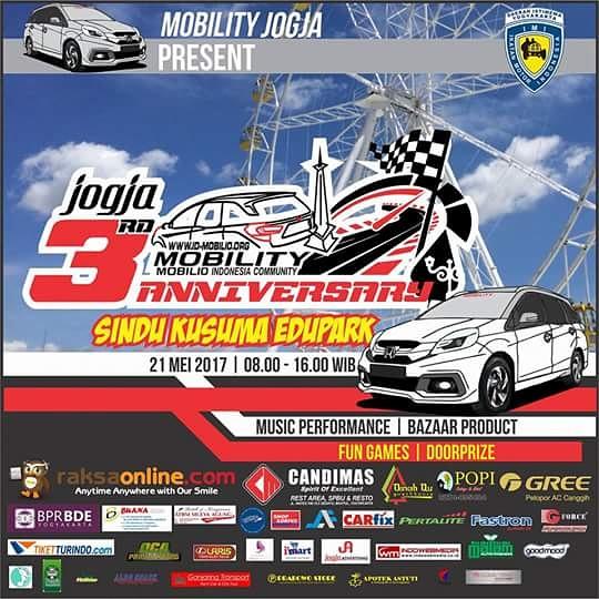 Mobility Jogja akan Menggelar 3rd Anniversary di Sindu Kusuma Edupark