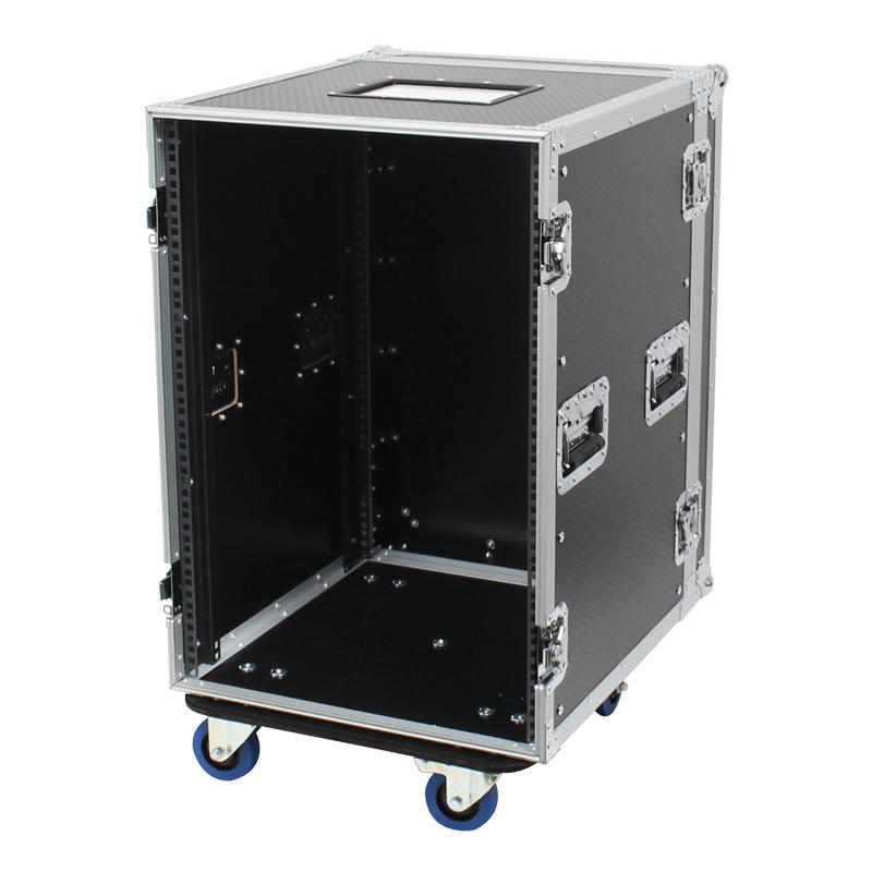 16u rack flight case with wheels