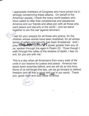 page 3 of Bush's 9/11 speech