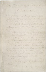 Final version of the Emancipation Proclamation