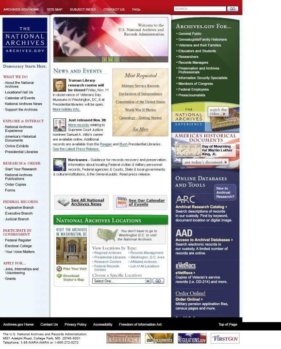 The website in 2005