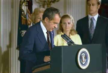 President Richard Nixon's Resignation Speech, August 8, 1974. (Richard Nixon Presidential Library, National Archives)