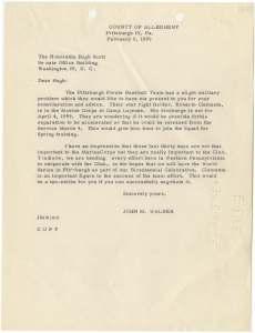 Letter from Former State Senator John M. Walker to United States Senator Hugh Scott National Archives Identifier: 7329775