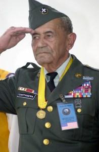 Korean War veteran, Sgt. 1st Class (ret) Modesto Cartagena, 12/02/2000. (National Archives Identifier: 6519402)