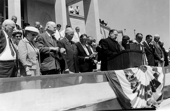 The Harry S. Truman Presidential Library and Museum dedication, July 6, 1957.
