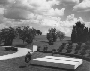 Herbert and Lou Henry Hoover grave site, ca. 1970 (National Archives Identifier: 23856259)