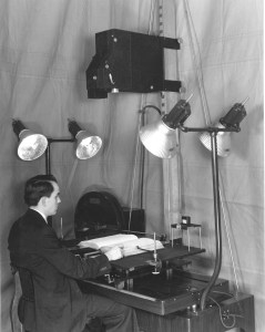 Photograph of Microfilm Camera at the National Archives, January 15, 1937. (National Archives Identifier 12168566)