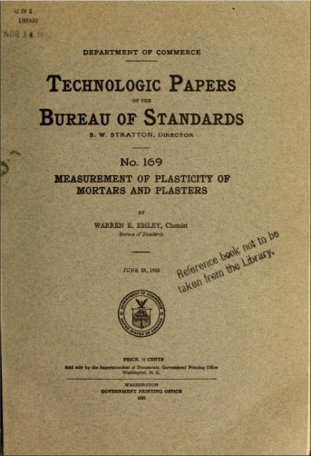 Warren Emley Technologic Paper 169, 1920. (National Institute of Standards and Technology)
