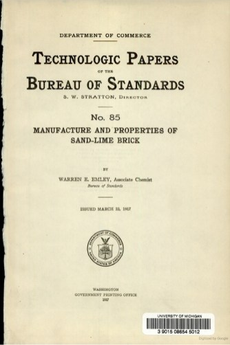 Warren Emley Technologic Paper 85, 1917. (National Institute of Standards and Technology)