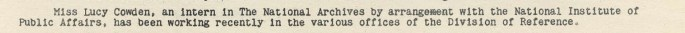 First Intern at Archives - Archiviews, May 2, 1940, p. 5