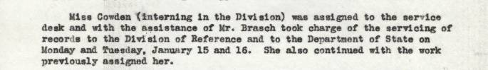 Julia Bland Report, Jan. 15-20, 1940 - RG 64, P 161, file Weekly Floor Reports