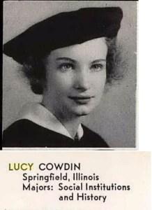 Lucy Cowdin Senior Photo, 1938 - Mills College